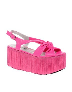 Image 1 ofEGO AND GREED for ASOS VIRGO Flatforms with Fringing