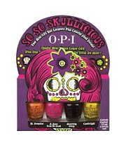 OPI So So Skullicious Mini Nail Polish Set With Free Nail Transfers