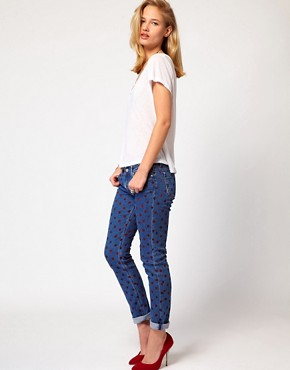 Image 4 ofMih Jeans Breathless Painted Spot Skinny Jeans