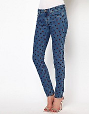 Mih Jeans Breathless Painted Spot Skinny Jeans