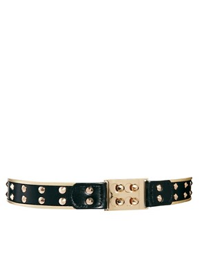 Image 1 ofASOS Buckle And Stud Detail Waist Belt
