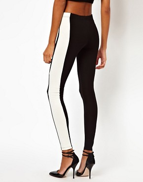 Image 2 ofASOS Leggings with Side Panel