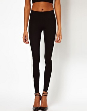 Image 4 ofASOS Leggings with Side Panel