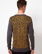 Izzue Cardigan with Leopard back
