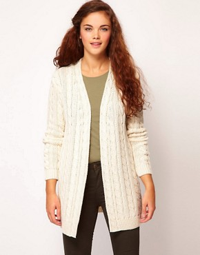 Image 1 of River Island Cable Cardigan