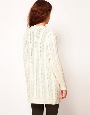 Image 2 of River Island Cable Cardigan
