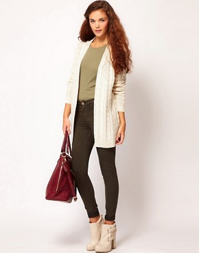 Image 4 of River Island Cable Cardigan