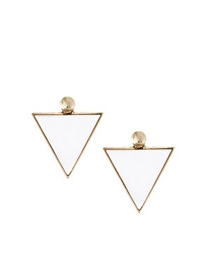 Image 1 ofASOS Spike Triangle Earrings