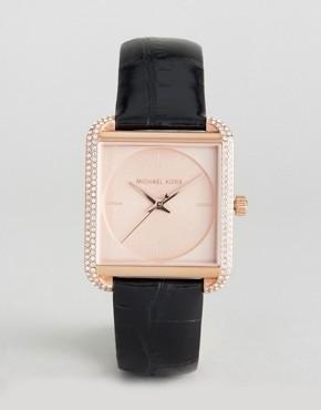 Часы с кожаным ремешком Michael Kors MK2611 Lake - Золотой
