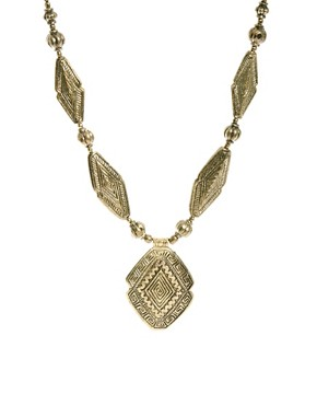 Image 1 ofMango Statement Hollow Gold Necklace