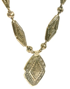Image 4 ofMango Statement Hollow Gold Necklace