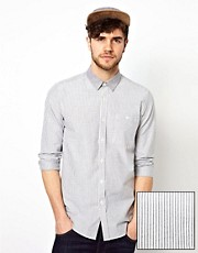 ASOS Stripe Shirt With Contrast Collar