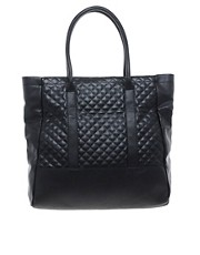 Mango Large Quilted Shopper Bag