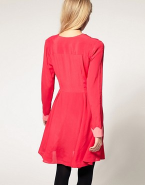 Image 2 ofASOS Collar Dress with Scallop Detail