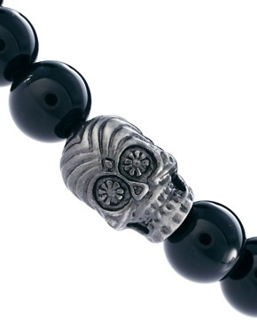 Image 4 ofSimon Carter Skull Beaded Bracelet