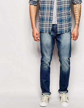 Bellfield Stone Wash Jeans in Tapered Fit
