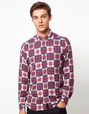 Image 1 ofSamsoe Samsoe Double Check Shirt