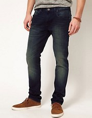 Lee Jeans Luke Skinny Fit Mid Blue Wash