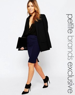 Alter Petite Frill Pocket Tailored Pencil Skirt