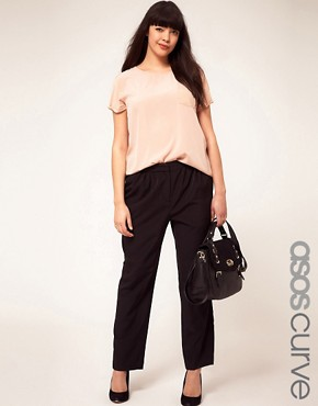 Image 1 ofASOS CURVE Slouchy Wide Leg Trousers