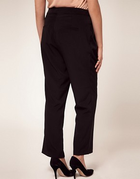 Image 2 ofASOS CURVE Slouchy Wide Leg Trousers