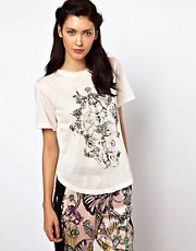 Kore by Sophia Kokosalaki Tee With Neckline Drape