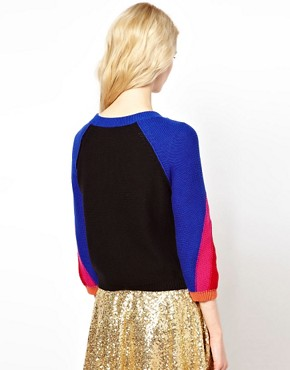 Image 2 ofSonia by Sonia Rykiel Rainbow Knitted Cardigan
