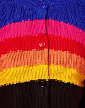Image 3 ofSonia by Sonia Rykiel Rainbow Knitted Cardigan
