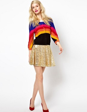 Image 4 ofSonia by Sonia Rykiel Rainbow Knitted Cardigan