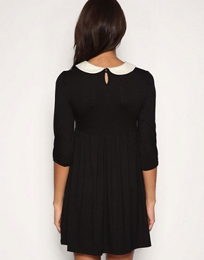 Image 2 ofASOS PETITE Peter Pan Collar Jersey Dress