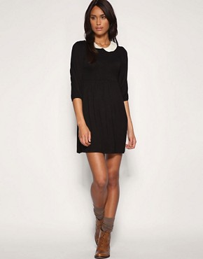 Image 4 ofASOS PETITE Peter Pan Collar Jersey Dress