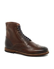 Ted Baker Poallu Leather Brogue Boots