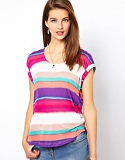Splendid Striped Open Back T-Shirt
