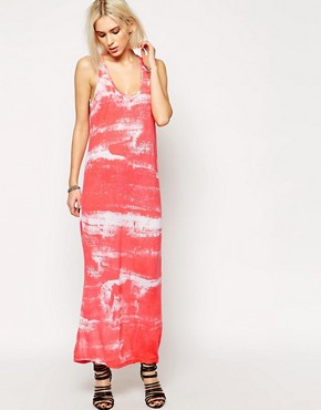 Religion Cut Maxi Dress In Smudge Print