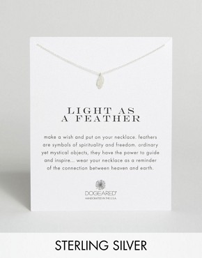 Dogeared Sterling Silver Light as a Feather Reminder Necklace