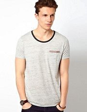 ASOS - T-shirt in jersey puntinato con bordo a contrasto