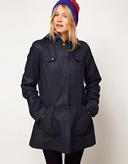 ASOS Popper Front Waxed Finish Jacket