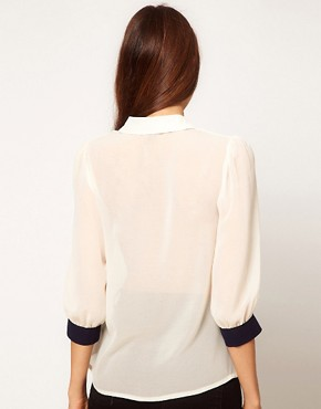 Image 2 ofASOS Blouse With Double Collar