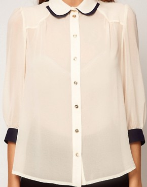 Image 3 ofASOS Blouse With Double Collar