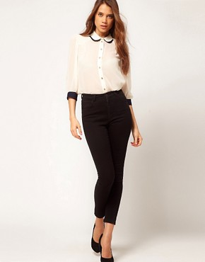 Image 4 ofASOS Blouse With Double Collar