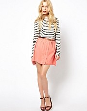 River Island Chiffon Button Through Skirt