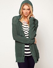 ASOS Knitted Hoody Cardigan In Tape Yarn