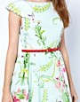 Image 3 ofTed Baker Dress with Full Skirt in Wallpaper Flower Print