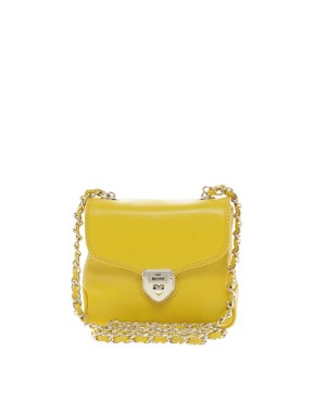 Image 1 ofLove Moschino Leather Heart Lock Mini Bag