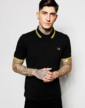 Image 1 ofFred Perry Slim Fit Twin Tipped Polo Top