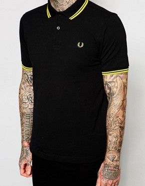 Image 3 ofFred Perry Slim Fit Twin Tipped Polo Top