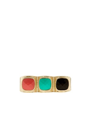 Image 2 ofRiver Island Triple Gem Knuckle Duster Ring