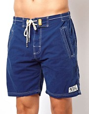 Superdry - Pantaloncini da surf blu navy