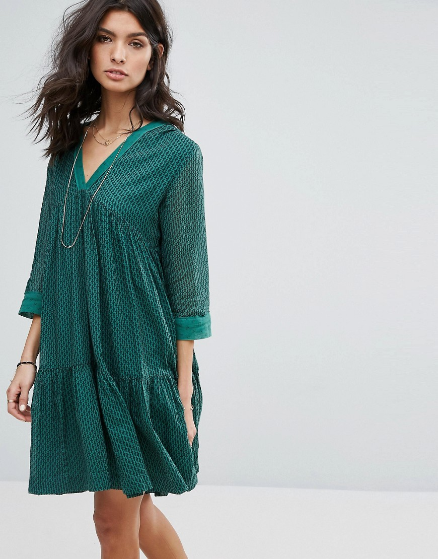 BA & SH Smocked Dress - Green