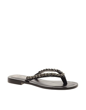 Image 1 ofJuicy Couture Infinity Leather Flat Sandal